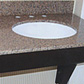 'Special needs' granite topped bathroom vanity